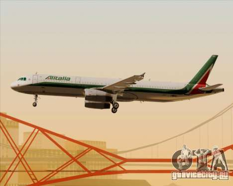 Airbus A321-200 Alitalia для GTA San Andreas колёса