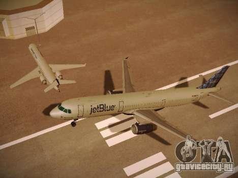 Airbus A321-232 jetBlue Blue Kid in the Town для GTA San Andreas двигатель