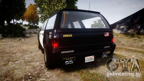 GTA V Declasse Granger LSP [ELS] Slicktop для GTA 4 вид сзади слева