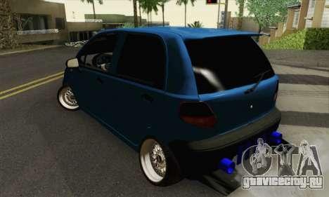 Daewoo Matiz Tuned для GTA San Andreas вид слева