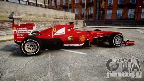 Ferrari F138 v2.0 [RIV] Alonso TMD для GTA 4 вид слева
