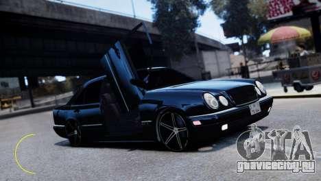 Mercedes-Benz E55 AMG для GTA 4 вид сзади