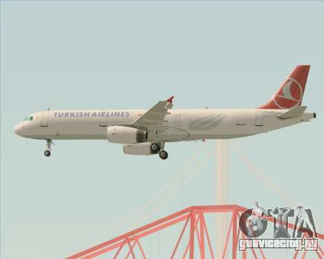 Airbus A321-200 Turkish Airlines для GTA San Andreas двигатель
