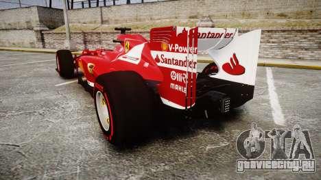 Ferrari F138 v2.0 [RIV] Alonso TSSD для GTA 4 вид сзади слева