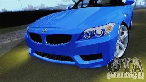 BMW Z4 sDrive28i 2012 Stock для GTA San Andreas вид справа