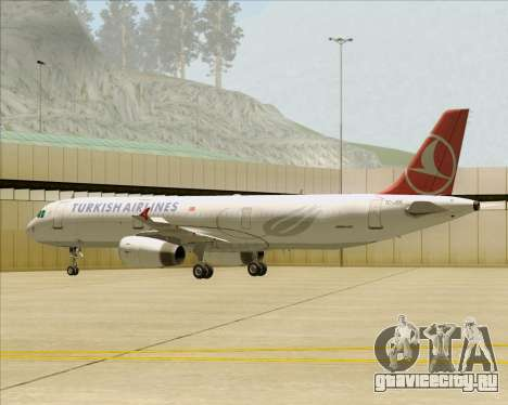 Airbus A321-200 Turkish Airlines для GTA San Andreas колёса