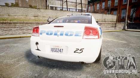 Dodge Charger 2010 PS Police [ELS] для GTA 4 вид сзади слева
