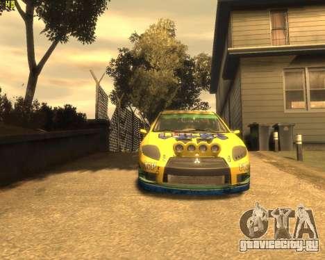 Mitsubishi Eclipse GT Rallycross для GTA 4 вид слева