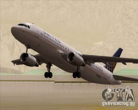 Airbus A320-232 United Airlines для GTA San Andreas