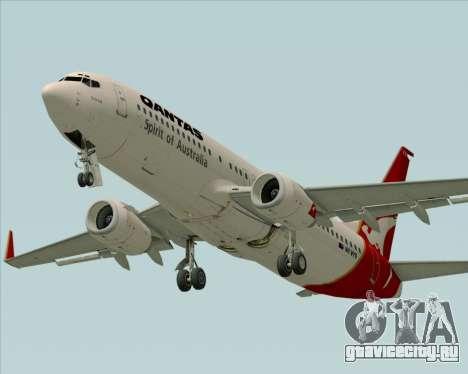 Boeing 737-838 Qantas (Old Colors) для GTA San Andreas вид изнутри
