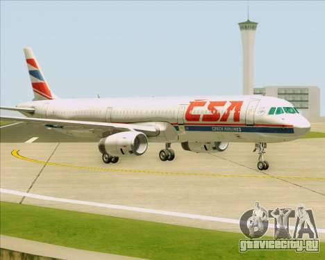 Airbus A321-200 CSA Czech Airlines для GTA San Andreas вид сзади слева