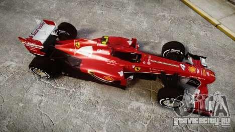 Ferrari F138 v2.0 [RIV] Massa TMD для GTA 4 вид справа