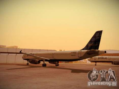 Airbus A321-232 jetBlue Blue Kid in the Town для GTA San Andreas вид справа
