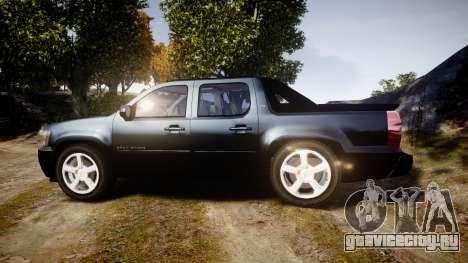 Chevrolet Avalanche 2008 Undercover [ELS] для GTA 4 вид слева