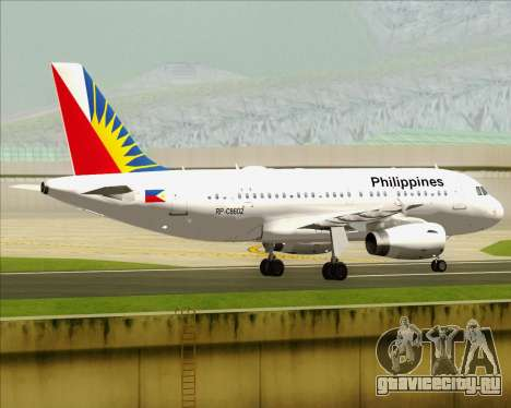 Airbus A319-112 Philippine Airlines для GTA San Andreas вид справа