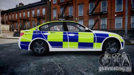 BMW 335i 2013 Central Motorway Police [ELS] для GTA 4 вид слева
