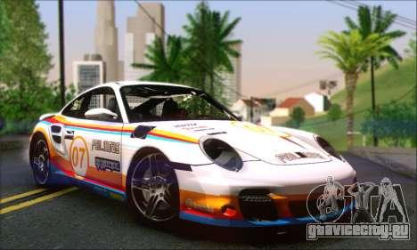 Porsche 997 Turbo Tunable для GTA San Andreas вид снизу