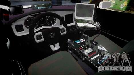 Dodge Charger RT 2013 LC Sheriff [ELS] для GTA 4 вид сзади