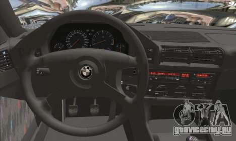 BMW M5 E34 V10 для GTA San Andreas вид сзади слева