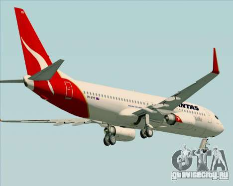 Boeing 737-838 Qantas (Old Colors) для GTA San Andreas вид снизу