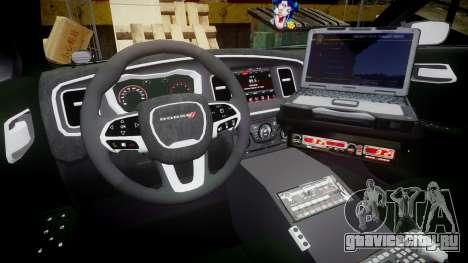 Dodge Charger 2015 LPD CHGR [ELS] для GTA 4 вид сзади