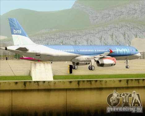 Airbus A321-200 British Midland International для GTA San Andreas вид сзади