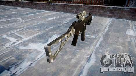 Пистолет-пулемёт UMP45 Carbon Fiber для GTA 4 второй скриншот