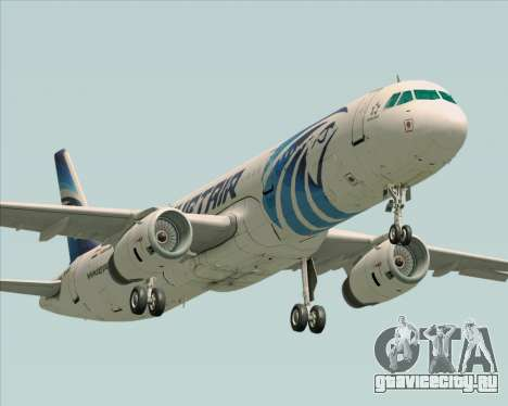 Airbus A321-200 EgyptAir для GTA San Andreas вид слева