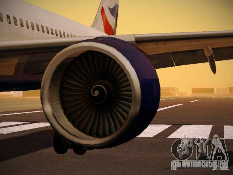 Boeing 757-236 British Airways для GTA San Andreas двигатель