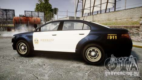GTA V Vapid Interceptor LSS Black [ELS] Slicktop для GTA 4 вид слева