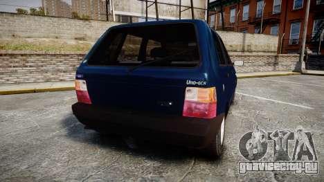 Fiat Uno для GTA 4 вид сзади слева