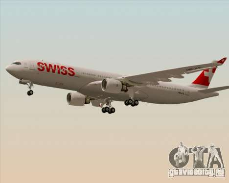 Airbus A330-300X Swiss International Air Lines для GTA San Andreas вид сзади слева