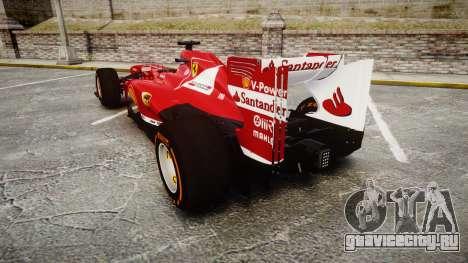 Ferrari F138 v2.0 [RIV] Alonso THD для GTA 4 вид сзади слева