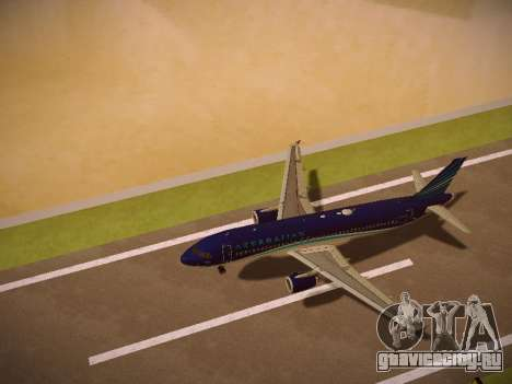 Airbus A320-214 Azerbaijan Airlines AZAL для GTA San Andreas двигатель