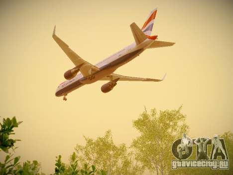 Boeing 757-236 British Airways для GTA San Andreas вид сбоку