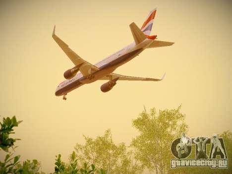 Boeing 757-236 British Airways для GTA San Andreas вид сбоку