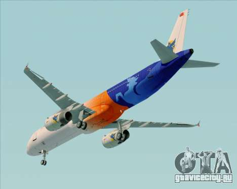 Airbus A321-200 Myanmar Airways International для GTA San Andreas вид сбоку