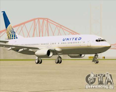 Boeing 737-824 United Airlines для GTA San Andreas вид слева