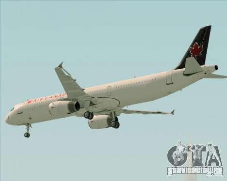 Airbus A321-200 Air Canada для GTA San Andreas вид сверху