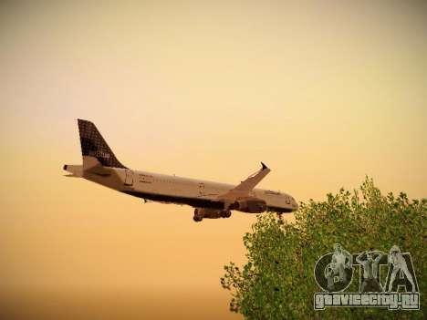 Airbus A321-232 jetBlue Woo-Hoo jetBlue для GTA San Andreas вид снизу
