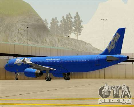 Airbus A321-200 Zoom Airlines для GTA San Andreas вид сверху