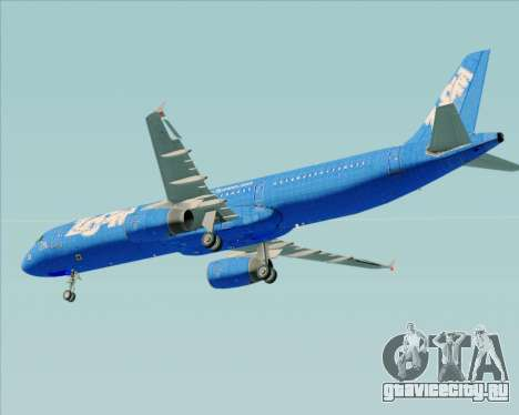Airbus A321-200 Zoom Airlines для GTA San Andreas вид снизу