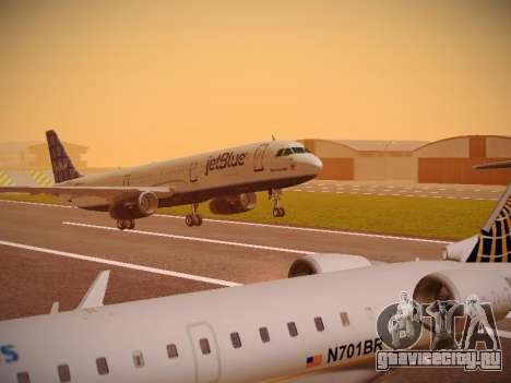 Airbus A321-232 jetBlue Blue Kid in the Town для GTA San Andreas вид слева