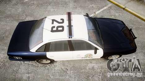 Vapid Police Cruiser GTA V LED [ELS] для GTA 4 вид справа