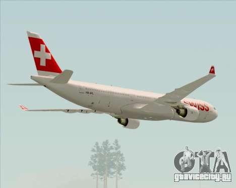 Airbus A330-300X Swiss International Air Lines для GTA San Andreas двигатель