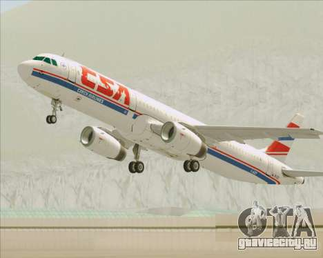 Airbus A321-200 CSA Czech Airlines для GTA San Andreas колёса