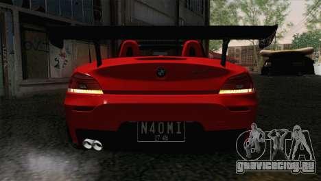 BMW Z4 sDrive28i 2012 Racing для GTA San Andreas вид сзади