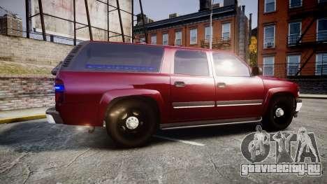 Chevrolet Suburban Undercover 2003 Black Rims для GTA 4 вид слева