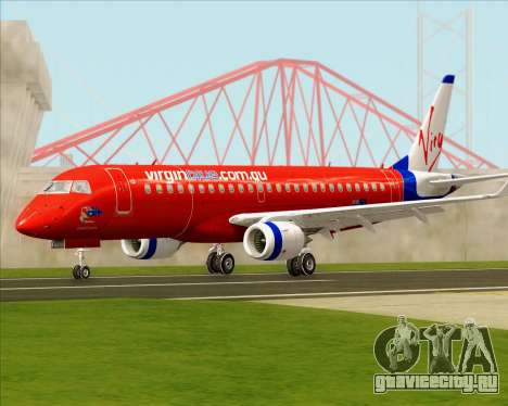 Embraer E-190 Virgin Blue для GTA San Andreas вид слева