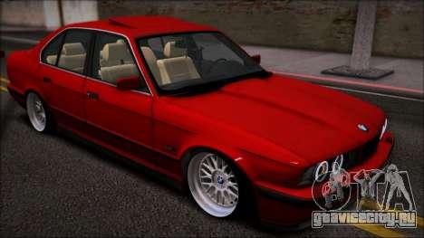 BMW 525i E34 для GTA San Andreas вид сзади слева